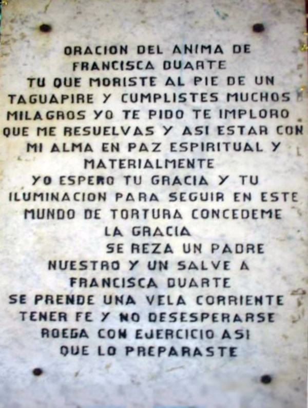 Oración del Anima del Taguapire